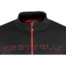 Castelli Fondo Full-Zip Jersey Herren black/red